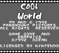 Cool World title screenshot