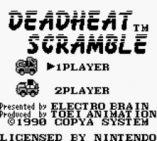 Dead Heat Scramble title screenshot