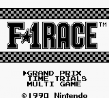 F-1 Race title screenshot