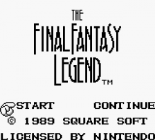 Final Fantasy Legend, The title screenshot