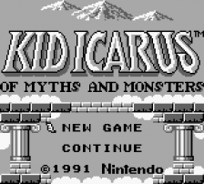 Kid Icarus - Of Myths and Monsters title screenshot