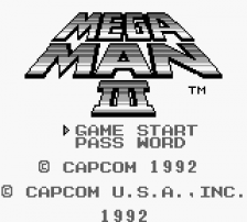 Mega Man III title screenshot