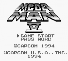 Mega Man V title screenshot