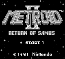 Metroid II - Return of Samus title screenshot