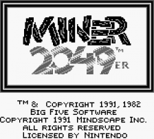 Miner 2049er title screenshot