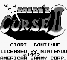 Rolan's Curse II title screenshot
