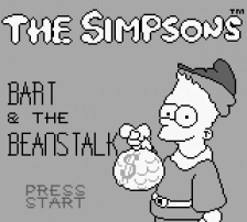 Simpsons, The - Bart & the Beanstalk title screenshot