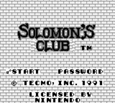Solomon's Club title screenshot