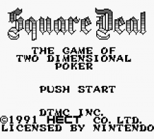 Square Deal - The Game of Two-Dimensional Poker title screenshot