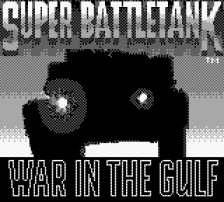 Super Battletank - War in the Gulf title screenshot