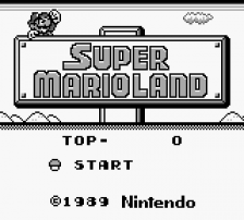 Super Mario Land title screenshot