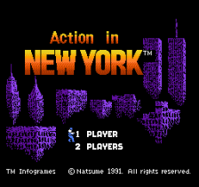 Action in New York title screenshot