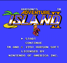 Adventure Island II title screenshot