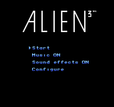 Alien 3 title screenshot