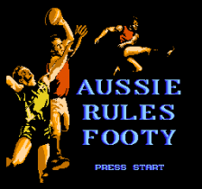Aussie Rules Footy title screenshot