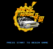 Back to the Future Part II & III title screenshot