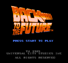 Back to the Future title screenshot