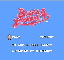 Bases Loaded 4 title screenshot