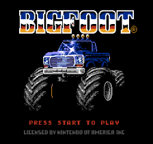 Bigfoot title screenshot