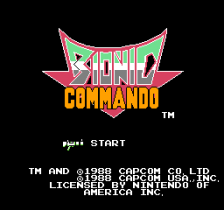 Bionic Commando title screenshot