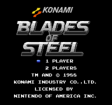 Blades of Steel title screenshot