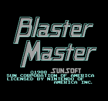 Blaster Master title screenshot