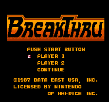 BreakThru title screenshot