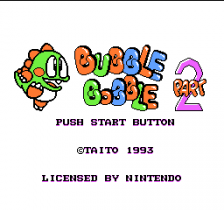 Bubble Bobble Part 2 title screenshot