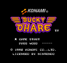 Bucky O'Hare title screenshot