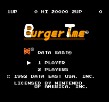BurgerTime title screenshot