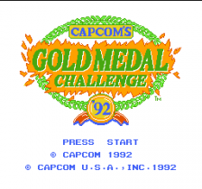 Capcom's Gold Medal Challenge '92 title screenshot