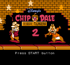 Chip 'n Dale Rescue Rangers 2 title screenshot