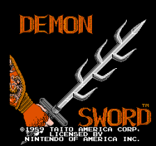 Demon Sword - Release the Power title screenshot