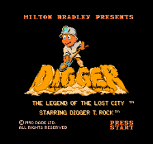 Digger - The Legend of the Lost City title screenshot