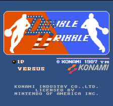 Double Dribble title screenshot