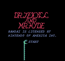Dr. Jekyll and Mr. Hyde title screenshot
