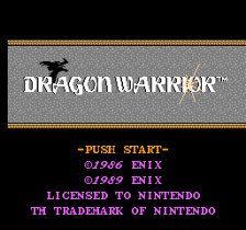 Dragon Warrior title screenshot
