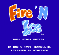 Fire 'n Ice title screenshot