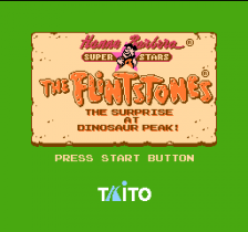 Flintstones, The - The Surprise at Dinosaur Peak! title screenshot