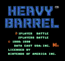 Heavy Barrel title screenshot
