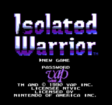 Isolated Warrior title screenshot