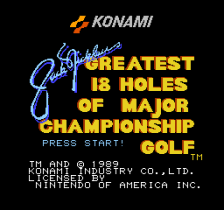 Jack Nicklaus' Greatest 18 Holes of Major Championship Golf title screenshot