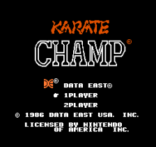 Karate Champ title screenshot