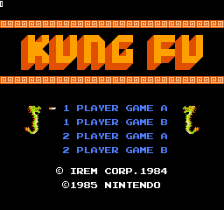 Kung Fu title screenshot