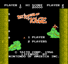 Legend of Kage, The title screenshot