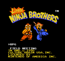 Little Ninja Brothers title screenshot