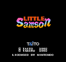 Little Samson title screenshot