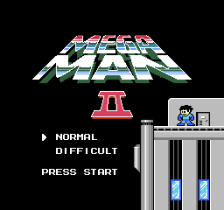 Mega Man 2 title screenshot