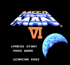 Mega Man 6 title screenshot
