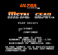 Metal Gear title screenshot
